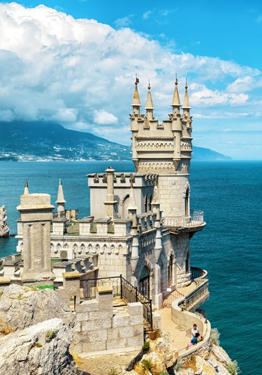 Castle Swallow's Nest on a rock in the Black Sea, Crimea, Russia
